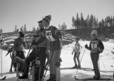 Slalomtävling på berget