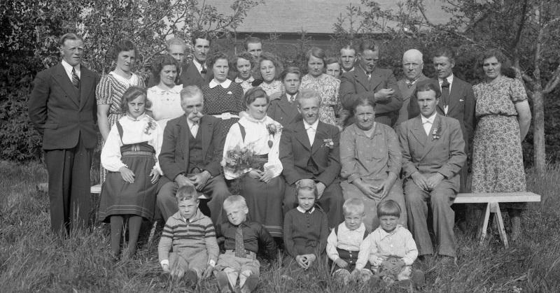 Karin och Sven Stålgren gifter sig 1942