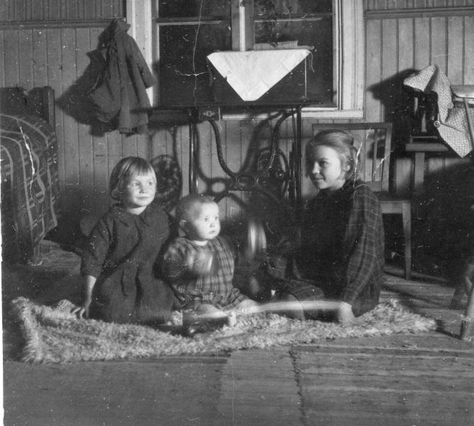 Tre barn