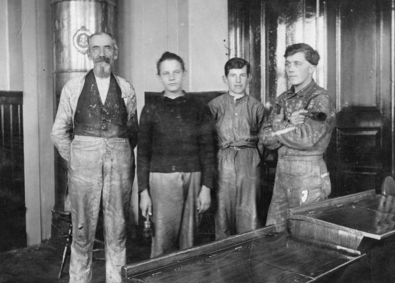 Fyra okända arbetare