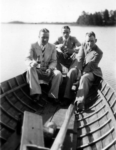 Tre män i båten
