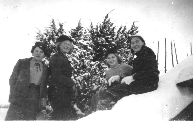 I snön