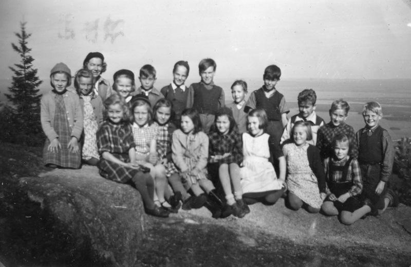 Skolklass på Gesundaberget