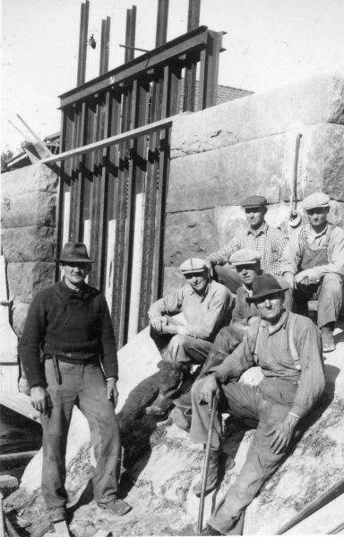 Dammreparationsarbete Mångbro 1941