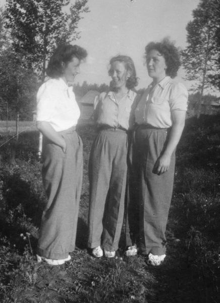 Anna, Sigrid och Karin
