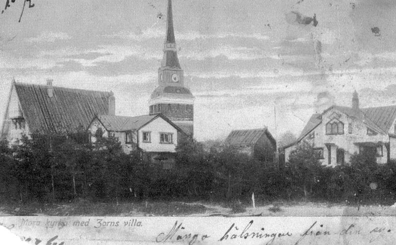 Mora kyrka med Zorns villa
