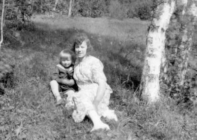Selma Broman med barn
