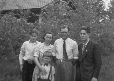 Linnea med familj