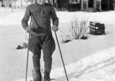 Fritz Myhr på skidor