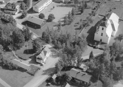 Flygfoto Sollerö kyrka